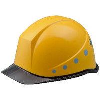 ミドリ安全 デザインヘルメット PC(ポリカーボネート) クリアバイザーフラッシュ&イエロー 頭囲/55cm~62cm 4001503101 1個 (直送品)