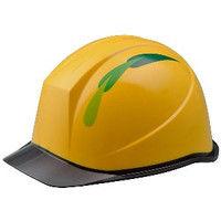 ミドリ安全 デザインヘルメット PC(ポリカーボネート) クリアバイザーリーフ&イエロー 頭囲/55cm~62cm 1個 4001503111 (直送品)