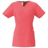 フォーク 医療白衣 ワコールHIコレクション レディススクラブ(後ろジップ) HI700-3 リリースピンク M (直送品)