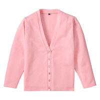 D-PHASE(ディーフェイズ) Vネックカーディガン 女性用 長袖 ピンク M C04
