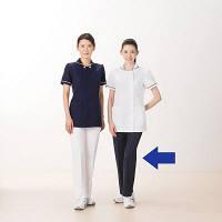 AITOZ(アイトス) レディースパンツ(スリムストレート) ナースパンツ 医療白衣 ダークネイビー 5L 861366-088 (直送品)