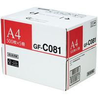 キヤノン 高白色用紙 GF-C081 A4 1箱(500枚×5冊入)