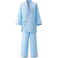 患者衣(男女兼用)パンツ 59-481 ブルー 3L