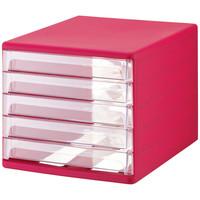レターケースカラー ピンク SH-L5-CP 1台 山田化学