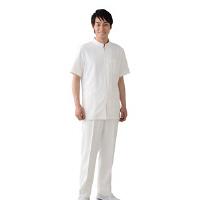 オンワード 白衣 BR-4001 メンズジップアップジャケットホワイト S 1枚 (取寄品)