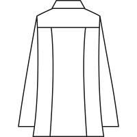 住商モンブラン メンズジップアップジャケット(長袖) 医務衣 ホワイト M 72-981 (直送品)