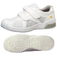 ミドリ安全 2105100809 静電作業靴 エレパス307 白 25.0cm 1足 (直送品)