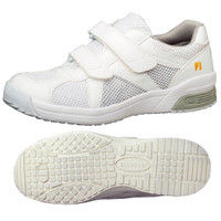 ミドリ安全 2105100803 静電作業靴 エレパス307 白 22.0cm 1足 (直送品)