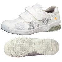 ミドリ安全 2105100903 静電作業靴 エレパス307 白 大サイズ30.0cm 1足 (直送品)