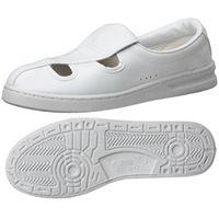 ミドリ安全 2105105208 男女兼用 静電作業靴 エレパス M102 白24.5cm 1足 (直送品)