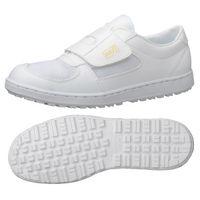 ミドリ安全 2125004108 静電作業靴 エレパス303 マジックタイプ 白24.5cm 1足 (直送品)