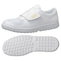 ミドリ安全 2125004114 静電作業靴 エレパス303 マジックタイプ 白27.5cm 1足 (直送品)