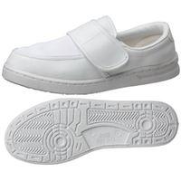 ミドリ安全 2105105410 男女兼用 静電作業靴 エレパス M103マジックタイプ 白 25.5cm 1足 (直送品)