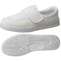 ミドリ安全 2105105610 男女兼用 静電作業靴 エレパス M113マジックタイプ 白 25.5cm 1足 (直送品)