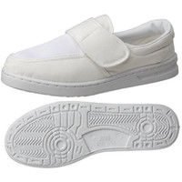 ミドリ安全 2105105703 男女兼用 静電作業靴 エレパス M113マジックタイプ 白 大サイズ 1足 (直送品)