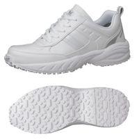 ミドリ安全 2125035307 ビルメンテナンス業向け作業靴 BMGー10紐タイプ 白 24.0cm 1足 (直送品)