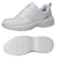 ミドリ安全 2125035318 ビルメンテナンス業向け作業靴 BMGー10紐タイプ 白 30.0cm 1足 (直送品)