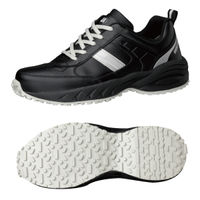 ミドリ安全 2125035407 ビルメンテナンス業向け作業靴 BMGー10紐タイプ 黒 24.0cm 1足 (直送品)