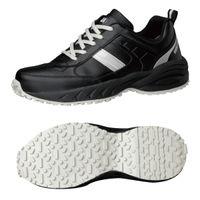 ミドリ安全 2125035410 ビルメンテナンス業向け作業靴 BMGー10紐タイプ 黒 25.5cm 1足 (直送品)