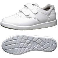 ミドリ安全 2125020810 超軽量耐滑作業靴ハイグリップ Hー815マジックタイプ 白 25.5cm 1足 (直送品)
