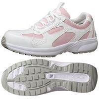 ミドリ安全 JSAA認定 女性用 軽量 作業靴 プロスニーカー SL602 22.0cm ピンク 1足 2125042603(直送品)