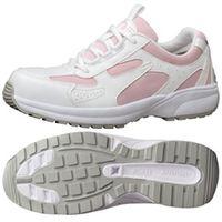 ミドリ安全 JSAA認定 女性用 軽量 作業靴 プロスニーカー SL602 24.0cm ピンク 1足 2125042607(直送品)