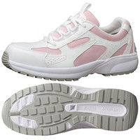 ミドリ安全 JSAA認定 女性用 軽量 作業靴 プロスニーカー SL602 25.0cm ピンク 1足 2125042609(直送品)
