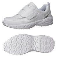 ミドリ安全 2125035510 ビルメンテナンス業向け作業靴 BMGー15マジックタイプ 白 25.5cm 1足 (直送品)