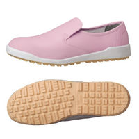 ミドリ安全 作業靴 耐滑 スリッポン H100C 大 先芯なし 30.0cm ピンク 1足 2125065503(直送品)