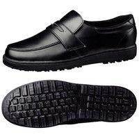 ミドリ安全 作業靴 耐滑 ローファータイプ H230D 先芯なし 26.0cm ブラック 1足 2125061611(直送品)の画像