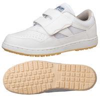 ミドリ安全 2125064007 ハイグリップ 軽量作業靴 Hー115Pマジックタイプ 白 24.0cm 1足 (直送品)