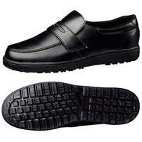 ミドリ安全 作業靴 耐滑 ローファータイプ H230D 先芯なし 27.0cm ブラック 1足 2125061613(直送品)