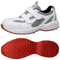 ミドリ安全 2125059209 先芯入り屋根上作業靴ヤネグリップ YGー15白/シルバー 25.0cm 1足 (直送品)