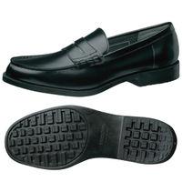 ミドリ安全 作業靴 耐滑 女性用 ローファータイプ H950L 先芯なし 23.5cm ブラック 1足 2125062206(直送品)