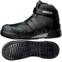 ミドリ安全 JSAA認定 建設業 作業靴 中編上 ハイカット MPC525 27.0cm ブラック 1足 2125059313(直送品)