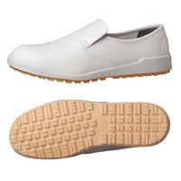 ミドリ安全 作業靴 耐滑 スリッポン H100C 先芯なし 27.5cm ホワイト 1足 2125064214(直送品)