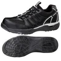ミドリ安全 JSAA認定 作業靴 プロスニーカー MPV01 25.0cm ブラック 1足 2125058809(直送品)