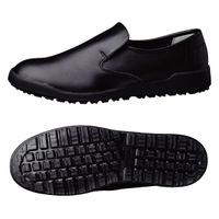 ミドリ安全 作業靴 耐滑 スリッポン H100C 大 先芯なし 30.0cm ブラック 1足 2125064503(直送品)