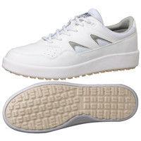 ミドリ安全 2125071010 超耐滑軽量作業靴ハイグリップ Hー710N紐タイプ 白 25.5cm 1足 (直送品)