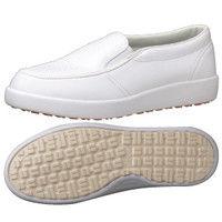 ミドリ安全 作業靴 耐滑 スリッポン H720N 先芯なし 23.5cm ホワイト 1足 2125072206(直送品)