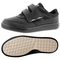 ミドリ安全 2125071809 超耐滑軽量作業靴ハイグリップ Hー715Nマジックタイプ 黒 25.0cm 1足 (直送品)