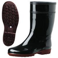 ミドリ安全 2130005008 耐滑抗菌長靴ハイグリップ HG2000Nスーパー黒 24.5cm 1足 (直送品)