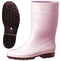 ミドリ安全 2130006908 耐滑抗菌長靴ハイグリップ HG2000Nスーパーピンク 24.5cm 1足 (直送品)