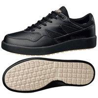 ミドリ安全 作業靴 耐滑 スニーカー H710N 先芯なし 27.5cm ブラック 1足 2125076414(直送品)