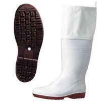 ミドリ安全 2130004407 耐滑抗菌長靴ハイグリップHG2000Nスーパーフード 白 24.0cm 1足 (直送品)