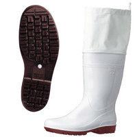 ミドリ安全 2130004408 耐滑抗菌長靴ハイグリップHG2000Nスーパーフード 白 24.5cm 1足 (直送品)
