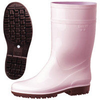 ミドリ安全 2130006904 耐滑抗菌長靴ハイグリップ HG2000Nスーパーピンク 22.5cm 1足 (直送品)