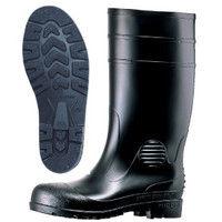 ミドリ安全 2140000308 安全長靴 先芯入り W1000 黒 24.5cm 1足 (直送品)