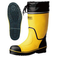 ミドリ安全 2146001610 安全長靴 先芯入り ワークプラスブーツ 766N黄 25.5cm 1足 (直送品)