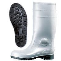 ミドリ安全 2140000709 安全長靴 先芯入り W1000 グレイ25.0cm 1足 (直送品)